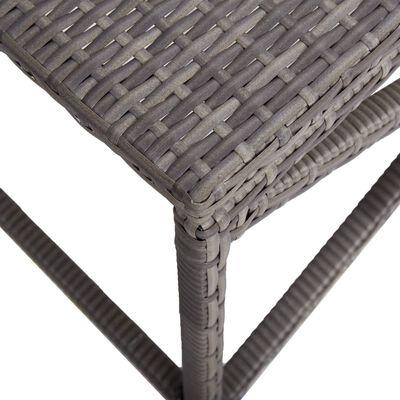 vidaXL szürke polyrattan kerti pad 120 cm