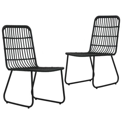 vidaXL 2 db fekete polyrattan kerti szék