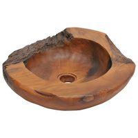 vidaXL tömör tíkfa mosdókagyló 45 cm