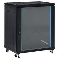 """vidaXL 18U hálózati szekrény 19"""" forgó lábakkal IP20 800x600x1000 mm"""