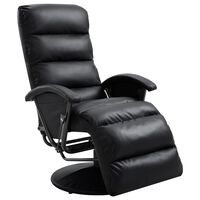 vidaXL fekete műbőr TV-fotel