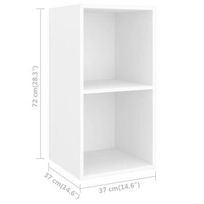 vidaXL 3 részes fehér forgácslap TV-szekrény