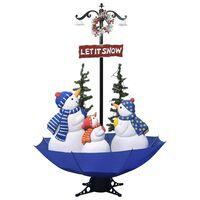 vidaXL kék PVC havazó karácsonyfa ernyő alakú talppal 170 cm