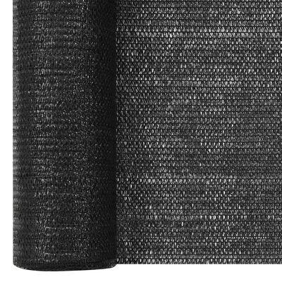 vidaXL fekete HDPE belátásgátló háló 3,6 x 25 m 195 g/m²