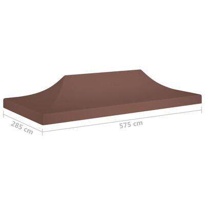 vidaXL barna tető partisátorhoz 6 x 3 m 270 g/m²