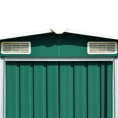 vidaXL zöld fém kerti fészer 257 x 298 x 178 cm
