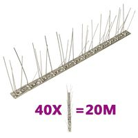 vidaXL 40 db 20 m-es ötsoros rozsdamentes acél madárriasztó tüske