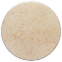 vidaXL krémszínű márvány asztallap Ø50 x 2,5 cm