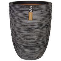 Capi Nature Rib KOFZ783 antracitszürke elegáns váza 46 x 58 cm