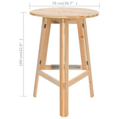 vidaXL összecsukható fenyőfa bárasztal 78 cm