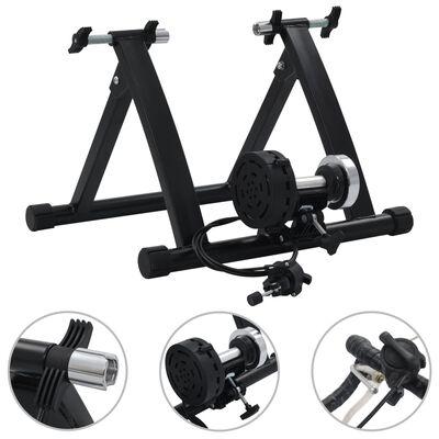 vidaXL fekete acél görgős edzőgép 66-71 cm