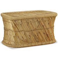 vidaXL téglalap alakú bambusz dohányzóasztal 78 x 50 x 45 cm