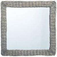 vidaXL fonott vesszőkeretes tükör 50 x 50 cm