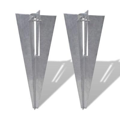 vidaXL 2 db acél kerítés tüske