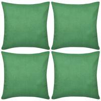 4 db pamut párnahuzat 80 x 80 cm zöld