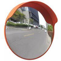 Narancssárga PC műanyag konvex kültéri közlekedési tükör 45 cm