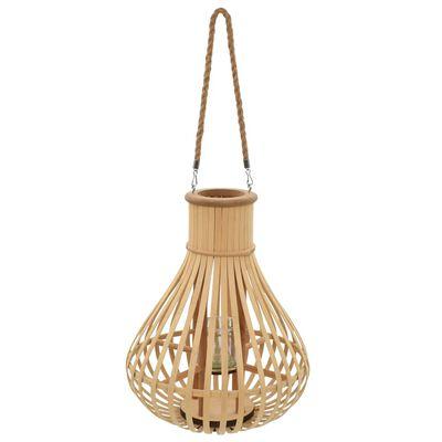 vidaXL természetes színű bambusz függő gyertyatartó lámpás