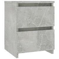 vidaXL betonszürke forgácslap éjjeliszekrény 30 x 30 x 40 cm