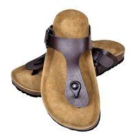 vidaXL barna női bio parafa flip flop dizájnú papucs 37-es méret