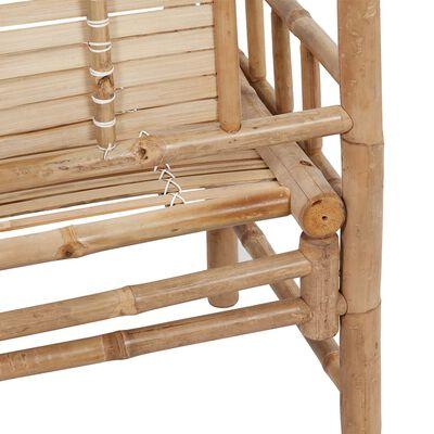 vidaXL bambusz kerti pad párnával 120 cm