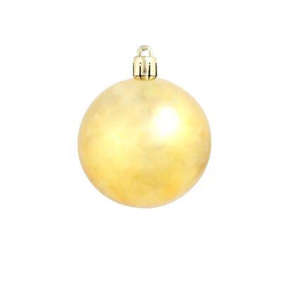 vidaXL 100 darabos aranyszínű karácsonyi gömb készlet 6 cm