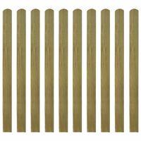 vidaXL 10 db impregnált fa kerítésléc 120 cm