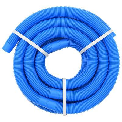vidaXL kék medencetömlő szorítóbilincsekkel 38 mm 6 m
