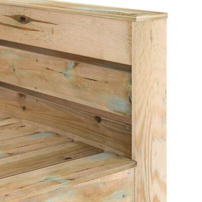 vidaXL 2 részes barna impregnált fenyőfa kerti raklap-ülőgarnitúra