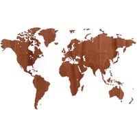 MiMi Innovations Exclusive sapelli fa világtérkép falidísz 130 x 78 cm