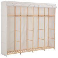 vidaXL fehér szövet ruhásszekrény 200 x 40 x 170 cm