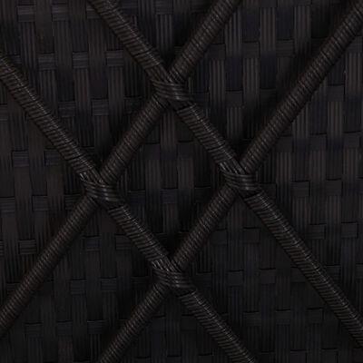 vidaXL krémfehér polyrattan napozóágy ponyvával és párnával