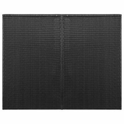 vidaXL fekete polyrattan kukatároló 2 db kerekes kukához 153x78x120 cm