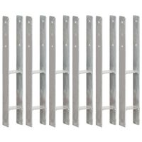vidaXL 6 db ezüstszínű horganyzott acél kerítéshorgony 8 x 6 x 60 cm