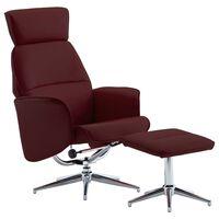vidaXL bordó műbőr dönthető fotel lábzsámollyal
