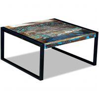 vidaXL tömör újrahasznosított fa dohányzóasztal 80 x 80 x 40 cm