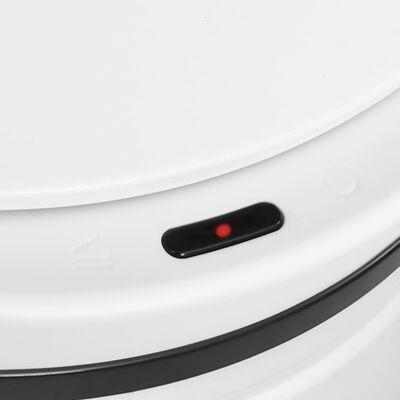 vidaXL fehér automata érzékelős szénacél szemeteskuka 70 L