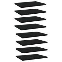 vidaXL 8 db fekete forgácslap könyvespolc 40 x 30 x 1,5 cm