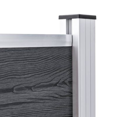 vidaXL 2 db alumínium kerítésoszlop 185 cm