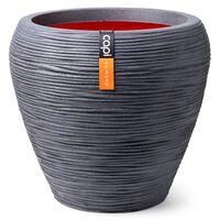 Capi Nature Rib sötétszürke kúpos váza 42 x 38 cm