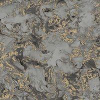 DUTCH WALLCOVERINGS szürke és arany márvány mintás tapéta