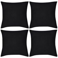 4 db pamut párnahuzat 40 x 40 cm fekete