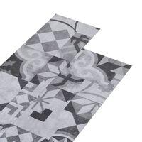 vidaXL szürke mintás 2 mm-es öntapadó PVC padlóburkolat 5,02 m²