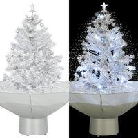 vidaXL fehér havazó karácsonyfa ernyő alakú talppal 75 cm