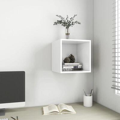 vidaXL fehér forgácslap faliszekrény 37 x 37 x 37 cm