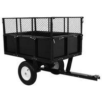 vidaXL 300 kg-os teherbírású billenős pótkocsi fűnyíró traktorhoz