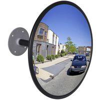 Konvex beltéri közlekedési tükör fekete akril 30 cm