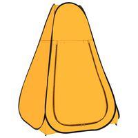 vidaXL sárga felállítható zuhanysátor