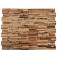 10 db vidaXL újrahasznosított tíkfa falburkoló panel 1 m²