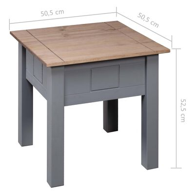 vidaXL szürke panama stílusú fenyőfa éjjeliszekrény 50,5x50,5x52,5 cm