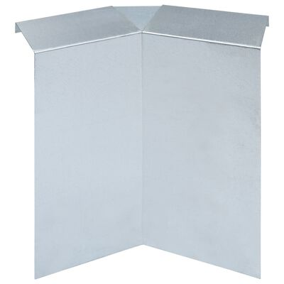 vidaXL 8 db horganyzott acél csigakerítés-csatlakozó 10 x 10 x 25 cm